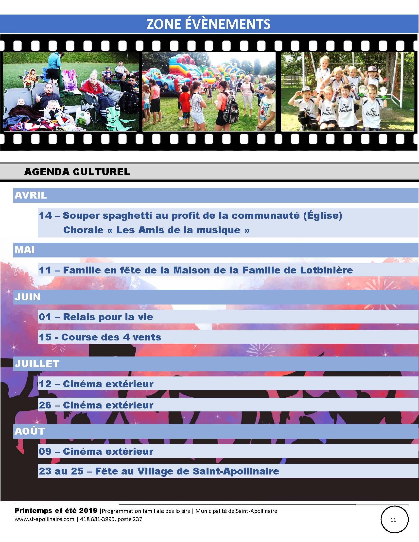 Loisirs Et Culture Zone 201 V 233 Nements Saint Apollinaire